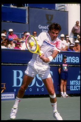 4 Mar 1992:  Jimmy Connors in action during the Newsweek Champions Cup tournament. Mandatory Credit: Ken Levine  /Allsport