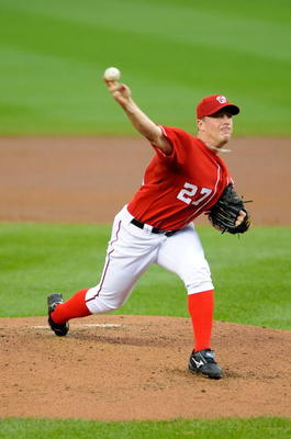WASHINGTON - JUNE 04:  Jordan Zimmermann #27 of the Washington Nationals pitches against the San Francisco Giants at Nationals Park on June 4, 2009 in Washington, DC.  (Photo by Greg Fiume/Getty Images)