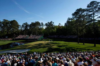 AUGUSTA, GA - APRIL 10:  A general view of the 15th green during the third round of the 2010 Masters Tournament at Augusta National Golf Club on April 10, 2010 in Augusta, Georgia.  (Photo by Streeter Lecka/Getty Images for Golf Week)