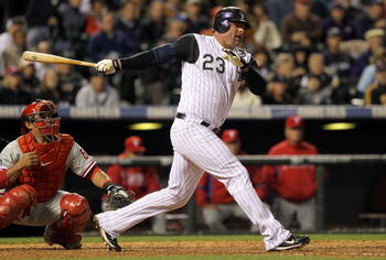 Over 17 seasons, Jason Giambi has over 400 career home runs.
