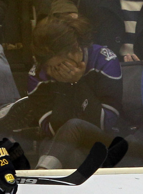 She just realized that Gretzky no longer plays hockey anymore, let alone for LA.