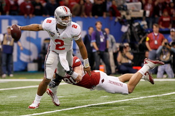 Ohio State QB Terrelle Pryor ran for 115 yards against the Hogs in the Sugar Bowl