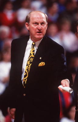 20 FEB 1994:  MISSOURI HEAD COACH NORM STEWART ON THE SIDELINES DURING THE TIGERS 81-74 VICTORY OVER THE KANSAS JAYHAWKS. Mandatory Credit: Earl Richardson/ALLSPORT