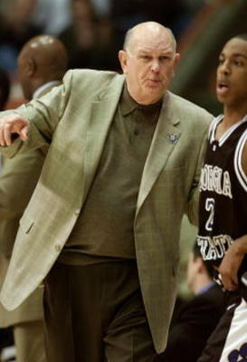 17 Mar 2001:  Head coach Lefty Driesell of the Georgia State Panthers gives directions to Lamont McIntosh #2 against the Maryland Terrapins during the second round of the NCAA tournament at the Boise State University Pavilion in Boise, Idaho.   <DIGITAL I