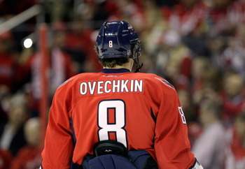 WASHINGTON, DC - MARCH 29:  Alex Ovechkin #8 of the Washington Capitals against the Carolina Hurricanes at the Verizon Center on March 29, 2011 in Washington, DC.  (Photo by Rob Carr/Getty Images)