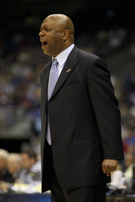 SAN ANTONIO, TX - MARCH 25:  Head coach Leonard Hamilton of the Florida State Seminoles reacts during the southwest regional of the 2011 NCAA men's basketball tournament at the Alamodome on March 25, 2011 in San Antonio, Texas. Virginia Commonwealth defea