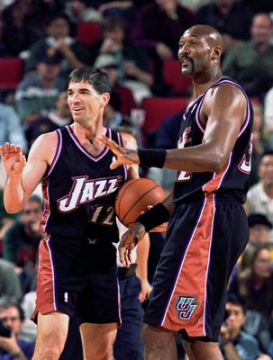 Utah Jazz Hall of Famers, John Stockton and Karl Malone