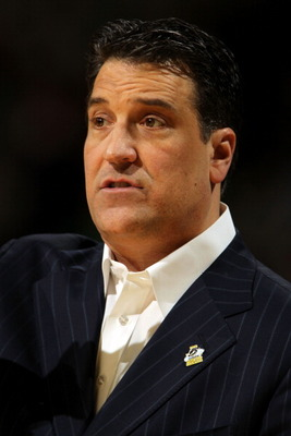DENVER, CO - MARCH 17:  Head coach Steve Lavin of the St. John's Red Storm looks on from the bench against the Gonzaga Bulldogs during the second round of the 2011 NCAA men's basketball tournament at Pepsi Center on March 17, 2011 in Denver, Colorado.  (P