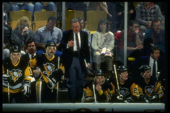 1990-1991:  Pittsburgh Penguins general manager Bob Johnson. Mandatory Credit: Rick Stewart  /Allsport