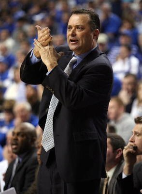 LEXINGTON, KY - JANUARY 21:  Billy Gillispie, the Head Coach of the Kentucky Wildcats, is pictured during the SEC game against the Auburn Tigers at Rupp Arena on January 21, 2009 in Lexington, Kentucky.  (Photo by Andy Lyons/Getty Images)