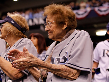ST. PETERSBURG, FL - OCTOBER 12:  Fans of the Tampa Bay Rays clap during their game against the Texas Rangers during Game 5 of the ALDS at Tropicana Field on October 12, 2010 in St. Petersburg, Florida.  (Photo by J. Meric/Getty Images)