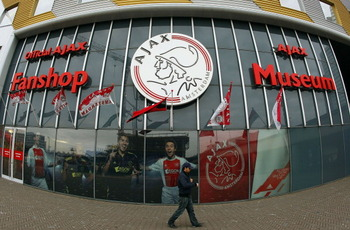 AMSTERDAM, NETHERLANDS - MARCH 10: A general view of Ajax Football Club Store on March 10, 2011 in London, England. (Photo by Tom Dulat/Getty Images)