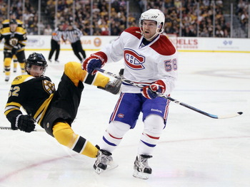 With the speed of Brian Gionta, Tomas Plekanec, Mike Cammalleri, and David Desharnais the Canadiens can outskate the Bruins.