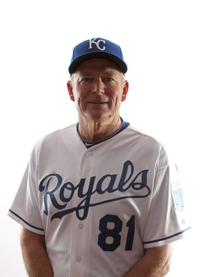 SURPRISE, AZ - FEBRUARY 23:  Coach Rusty Kuntz #81 of the Kansas City Royals poses for a portrait during Spring Training Media Day on February 23, 2011 at Surprise Stadium in Surprise, Arizona..  (Photo by Jonathan Ferrey/Getty Images)