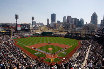 PITTSBURGH - APRIL 07:  General view of PNC Park during the Opening Day ceremonies before the game between the Pittsburgh Pirates and the Colorado Rockies on April 7, 2011 at PNC Park in Pittsburgh, Pennsylvania.  (Photo by Jared Wickerham/Getty Images)