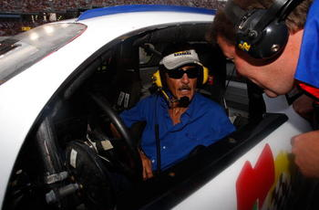 DAYTONA, FL - JULY 07:  Former NASCAR champion Richard Petty sits in a pace car driven in honor of the late Bill France Jr., during the NASCAR Nextel Cup Series Pepsi 400 at Daytona International Speedway on July 7, 2007 in Daytona, Florida.   (Photo by C