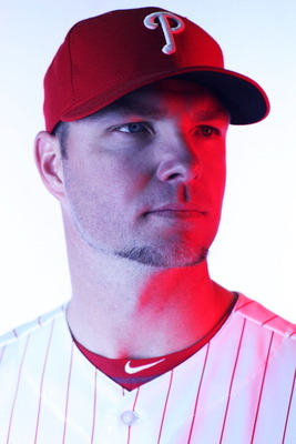 CLEARWATER, FL - FEBRUARY 22:  (EDITORS NOTE: Image was shot with a colored gel on lights) Ryan Madson #46 of the Philadelphia Phillies poses for a photo during Spring Training Media Photo Day at Bright House Networks Field on February 22, 2011 in Clearwa