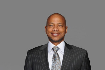 EAST RUTHERFORD, NJ - CIRCA 2010: In this handout image provided by the NFL, Jerry Reese of the New York Giants poses for his 2010 NFL headshot circa 2010 in East Rutherford, New Jersey. (Photo by NFL via Getty Images)