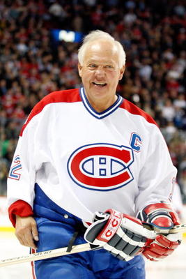 MONTREAL- DECEMBER 4:  Former Montreal Canadien Yvan Cournoyer skates during the Centennial Celebration ceremonies prior to the NHL game between the Montreal Canadiens and Boston Bruins on December 4, 2009 at the Bell Centre in Montreal, Quebec, Canada.