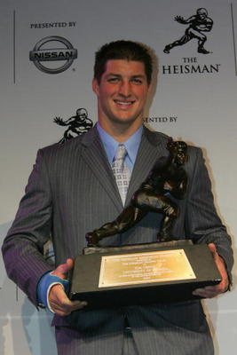 Florida's third Heisman Trophy winner, Tim Tebow was a first-round pick for Denver in 2010.