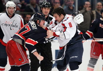 Ovechkin and Dubinsky clash.