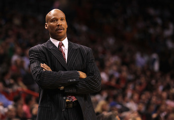 MIAMI, FL - JANUARY 31:  Cleveland Cavaliers head coach Byron Scott looks on dejected during a game against the Miami Heat  at American Airlines Arena on January 31, 2011 in Miami, Florida. NOTE TO USER: User expressly acknowledges and agrees that, by dow