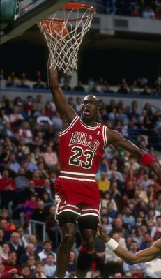 1989-1990: Guard Michael Jordan of the Chicago Bulls.