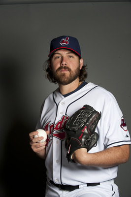 GOODYEAR, AZ - FEBRUARY 22: Chris Perez #54 of the Cleveland Indians poses during their photo day at the Cleveland Indians Spring Training Complex on February 22, 2011 in Goodyear, Arizona. (Photo by Rob Tringali/Getty Images)