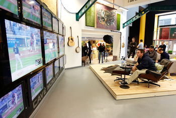 NEW YORK, NY - MARCH 31:  A general view of MLB's Fan Cave where Mike O'Hara and Ryan Wagner (not shown), the 'winners' of Major League Baseball's 'Dream Job', will watch at least 2,454 MLB games of the 2011 season from inside a transparent room on March