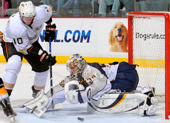 Corey Perry and Pekka Rinne