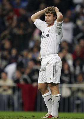 MADRID, SPAIN - MARCH 19: Antonio Cassano of Real Madrid reacts during a Primera Liga match between Real Madrid and Real Betis at the Santiago Bernabeu stadium on March 19, 2006 in Madrid, Spain.  (Photo by Denis Doyle/Getty Images)