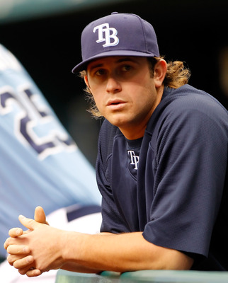 ST. PETERSBURG, FL - APRIL 03:  Infielder Evan Longoria #3 of the Tampa Bay Rays was placed on the 15 day disabled list just prior to the game against the Baltimore Orioles at Tropicana Field on April 3, 2011 in St. Petersburg, Florida.  (Photo by J. Meri