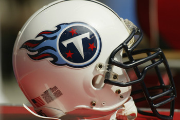 DALLAS - SEPTEMBER 15:  Detail of a Tennessee Titan's helmet during the game against the Dallas Cowboys on September 15, 2002 at Texas Stadium in Dallas, Texas.   The Cowboys defeat the Titans 21-13.  (Photo by Ronald Martinez/Getty Images)