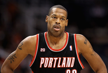 PHOENIX, AZ - JANUARY 14:  Marcus Camby #23 of the Portland Trail Blazers in action during the NBA game against the Phoenix Suns at US Airways Center on January 14, 2011 in Phoenix, Arizona. The Suns defeated the Trail Blazers 115-111. NOTE TO USER: User