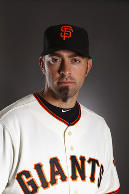 SCOTTSDALE, AZ - FEBRUARY 23:  Jeremy Affeldt #41 of the San Francisco Giants poses for a portrait during media photo day at Scottsdale Stadium on February 23, 2011 in Scottsdale, Arizona.  (Photo by Ezra Shaw/Getty Images)