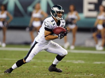 PHILADELPHIA - AUGUST 17:  Jeremy Bloom #11 of the Philadelphia Eagles returns a kick-off during a pre-season game against the Carolina Panthers at Lincoln Financial Field August 17, 2007 in Philadelphia, Pennsylvania.  (Photo by Jim McIsaac/Getty Images)