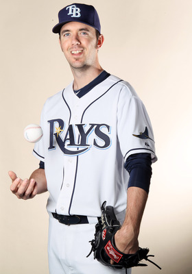 FT. MYERS, FL - FEBRUARY 22:  Dirk Hayhurst #73 of the Tampa Bay Rays poses for a portrait during the Tampa Bay Rays Photo Day on February 22, 2011 at the Charlotte Sports Complex in Port Charlotte, Florida.  (Photo by Elsa/Getty Images)