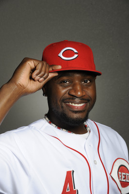 GOODYEAR, AZ - FEBRUARY 20: Brandon Phillips #4 of the Cincinnati Reds poses during the Cincinnati Reds photo day at the Cincinnati Reds Spring Training Complex on February 20, 2011 in Goodyear, Arizona. (Photo by Rob Tringali/Getty Images)