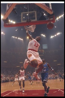 14 Jun 1995:  Forward Mario Elie of the Houston Rockets goes up for two during a Finals game against the Orlando Magic at The Summit in Houston, Texas.  The Rockets won the game, 113-101. Mandatory Credit: ALLSPORT USA  /Allsport Mandatory Credit: ALLSPOR