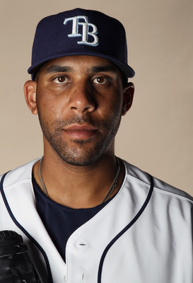 FT. MYERS, FL - FEBRUARY 22:  David Price #14 of the Tampa Bay Rays poses for a portrait during the Tampa Bay Rays Photo Day on February 22, 2011 at the Charlotte Sports Complex in Port Charlotte, Florida.  (Photo by Elsa/Getty Images)