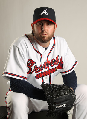 LAKE BUENA VISTA, FL - FEBRUARY 21: Peter Moylan #58 of the Atlanta Braves during Photo Day at  Champion Stadium at ESPN Wide World of Sports Complex on February 21, 2011 in Lake Buena Vista, Florida.  (Photo by Mike Ehrmann/Getty Images)