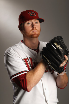 SCOTTSDALE, AZ - FEBRUARY 21:  Barry Enright #54 of the Arizona Diamondbacks poses for a portrait at Salt River Fields at Talking Stick on February 21, 2011 in Scottsdale, Arizona.  (Photo by Ezra Shaw/Getty Images)