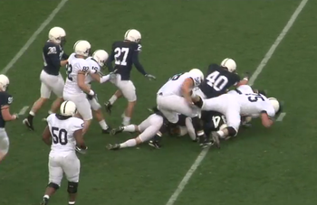 Penn States defensive line didnt have much time to make a statement.