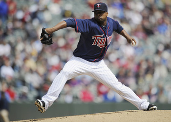 MINNEAPOLIS, MN - APRIL 13:  Francisco Liriano #47 of the Minnesota Twins pitches against the Kansas City Royals during the first inning of their game on April 13, 2011 at Target Field in Minneapolis, Minnesota. (Photo by Hannah Foslien/Getty Images)