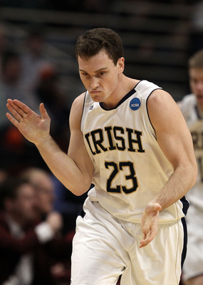 CHICAGO, IL - MARCH 20:  Ben Hansbrough #23 of the Notre Dame Fighting Irish claps in the first half of the game against the Florida State Seminoles during the third round of the 2011 NCAA men's basketball tournament at the United Center on March 20, 2011