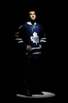 LOS ANGELES, CA - JUNE 26:  Brad Ross, drafted in the second round by the Toronto Maple Leafs poses for a portrait during day two of the 2010 NHL Entry Draft at Staples Center on June 26, 2010 in Los Angeles, California.  (Photo by Harry How/Getty Images)