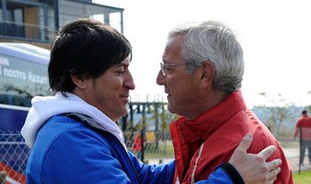 Ivan Zamorano and Marcelo Lippi