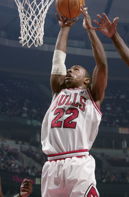 CHICAGO - DECEMBER 10:  Jay Williams #22 of the Chicago Bulls goes up for the shot during the NBA game against the Orlando Magic at the United Center on December 10, 2002 in Chicago, Illinois.  The Bulls won 107-87.  NOTE TO USER:  User expressly acknowle