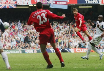 Steven Gerrard's scores a last-minute equaliser to take West Ham to extra-time in the 2006 FA Cup Final
