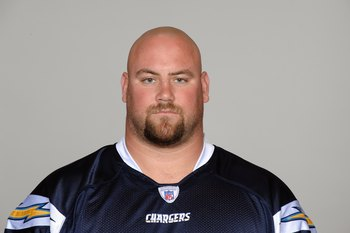 SAN DIEGO - 2009:  Kris Dielman of the San Diego Chargers poses for his 2009 NFL headshot at photo day in San Diego, California.  (Photo by NFL Photos)